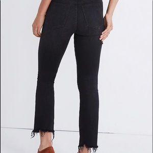 Madewell Cali Demi-Boot Black Jeans